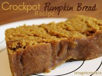 Yummy crockpot pumpkin bread!