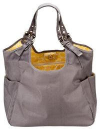 JP Lizzy Slate Citron Satchel - Diaper bag that doesn't look like a diaper bag!