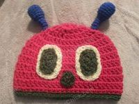 The Very Hungry Caterpillar Beanie Hat Crochet Pattern