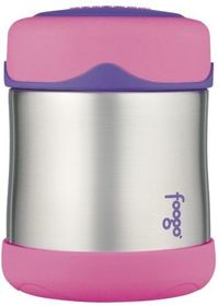Thermos Foogo Leak-Proof Stainless Steel 10-Ounce Food Jar Pink
