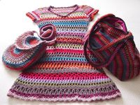 crochet child's dress set