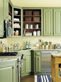 green kitchen cabinets?