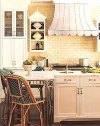 Love the Island and stools in this kitchen