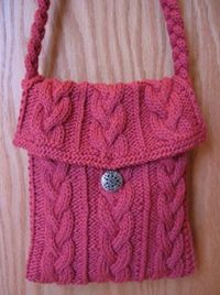 Free Knitting Patterns For Bags : flapper-purse-free knitting pattern / knits and kits - Juxtapost
