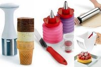 Cuisipro - Assorted gadgets to decorate cupcakes, scoop ice cream, sift flour and roll dough