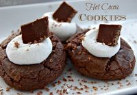 Table for 7: Hot Cocoa Cookies #chocolate # cookies # cocoa http://www.ourtableforseven.com