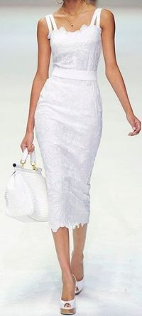 white- Dolce & Gabbana. Yes, please. Put me on the private jet for my honeymoon!