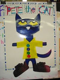 some great ideas for Pete the Cat and groovy buttons, looks easy enough to reproduce