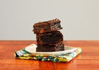 On-the-Fence Black Cocoa Brownies