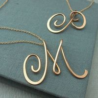 14k gold filled Calligraphy Necklace.