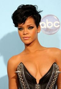 Rihanna short hair.