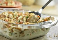 Super Chicken Casserole Make it quickly, make it ahead, whatever works for you. This flavorful casserole has protein, starch and vegetables all in one-dish. It's a terrific weeknight dinner that has a tasty surprise ingredient - stuffing.
