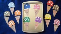 24 Piece Ice Cream Numbers and Counting Magnetic Activity Teaching Resource. $10.00, via Etsy.