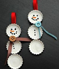 Learn how to make homemade ornaments out of discarded bottle caps from these easy-to-read instructions. DIY Christmas decorating like this cleans up your recycling bin and gives you great decorative pieces that will instill the holiday spirit into your ho...