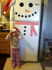 Easy Christmas Craft: Snowman Fridge