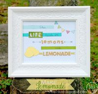 Make Lemonade Sign with {Dear Lizzy} from