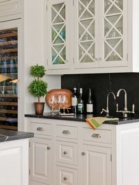 hardware, backsplash...and topiary of course!