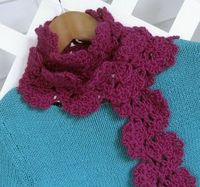 Double Thistle Scarf: Free Crochet Pattern & very thorough tutorial