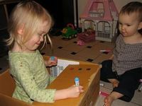 The Beauty of Cardboard Boxes - entertain littles with some crayons or markers and a cardboard box! « mama smiles
