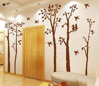 Birds In The Birch Forest Wall Decals