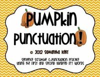 FREE Pumpkin Punctuation. Practice Sentence Fluency and Punctuation with this fun, fall-themed activity.