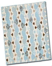 FREE Quilt Pattern Download: Gift for Baby! in blue