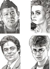 Stipple Hedcuts by Randy Glass.