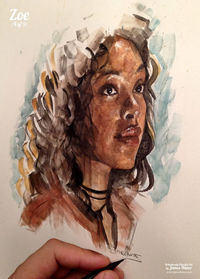 Latest Painting - �€˜Zoe' (Firefly - #4 of 9) Up next - Wash! x My site / My Facebook / Original Art on eBay