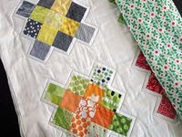 Cool Granny Square quilting by Rachel/Stitched in Color