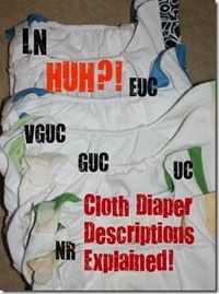 Used Diaper Condition (EUC, VGUC, GUC, UC etc.) Definitions