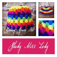 Rainbow Granny Square Hat by ShadyMissLady on Etsy, $10.00