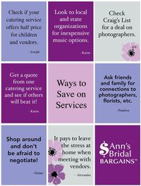 Ways to Save on Services!