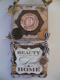 CTMH February SOTM. Wall hanging with buzz & bumble paper