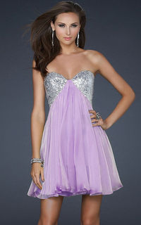 La Femme 17649 Sequin Lavender Homecoming Dress 2013 Hot On Sale