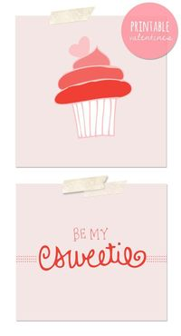 pretty printable valentines // the sweetest occasion.