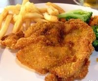 Chicken chops. Delicious fried chicken breasts.An excellent meal for a dinner.