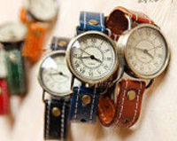 Neutral Leather Watch,Concise Retro style leather Watch,Leather Watch Wrist table Wrist watch,gift for friends -B25
