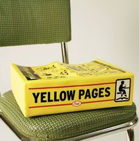 Yellow Pages booster seat. I need one of these.