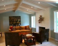 Vaulted Painted Wood Ceiling Design