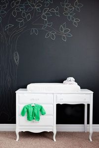 painted desk as changing table