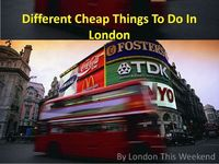 Different Cheap Things To Do In London