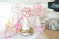 Vintage Inspired Birthday Hat, Photography Prop, Tea Party., via Etsy.