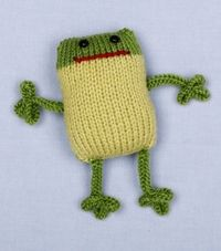 Loom Knit 2-Color Frog
