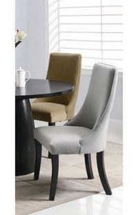 Coaster Company Dining Chairs Collection Amhurst Upholstered Dining Side Chair (Set of 2) Grey
