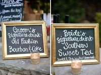 Signature drinks! We have done this for our brides & grooms! Most recently they were Disney themed!