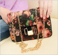 oil painting shoulder bag with chains