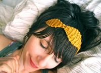 Perle Knit Crown Headband, Necklace or Belt - Sun Gold. $12.00, via Etsy.