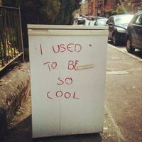 My friend found a fridge on the streets of Glasgow