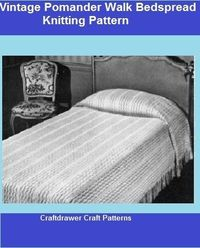 A vintage bedspread to knit using bedspread cotton thread, the size can be adjusted to make a twin, full or a queen size bedspread. Use your favorite color of crochet cotton thread or bedspread cotton to make a one of kind bedspread pattern.Photos and Com...