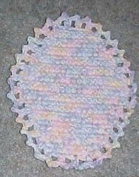 EASTER EGG HOTPAD free crochet pattern